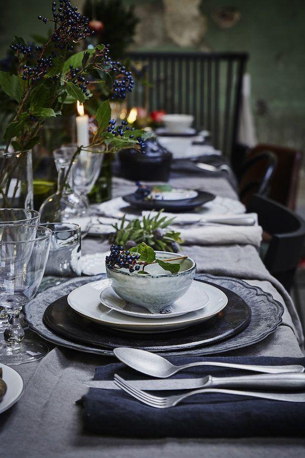 Simple yet pretty Christmas I Party Table, Table Setting I Tischdeko, Tisch decken