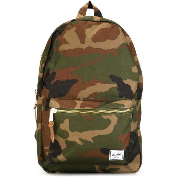 Herschel Supply Co. Camouflage Backpack ($71) ❤ liked on Polyvore featuring bags, backpacks, green, green bags, camo backpack, camo bag, camouflage bag and herschel supply co backpack