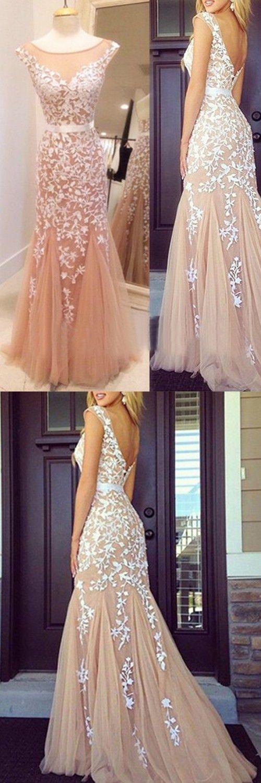 prom dresses,champagne prom dresses,open back prom dresses,scoop prom dresses,delicate prom party dresses,modest evening dresses