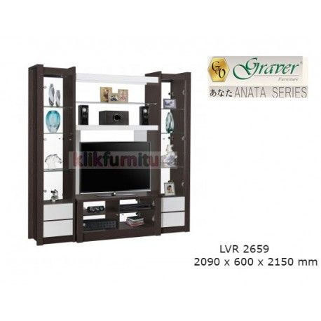 LVR 2659 Anata Graver Lemari Tv Condition:  New product  ANATA Series Graver ukuran 2090 x 600 x 2150 mm Maximal TV 48 inch