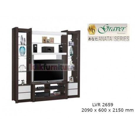 LVR 2659 Anata Graver Lemari Tv Condition:  New product  ANATA Series Graver ukuran 2090 x 600 x 2150 mm Maximal TV 48 inch