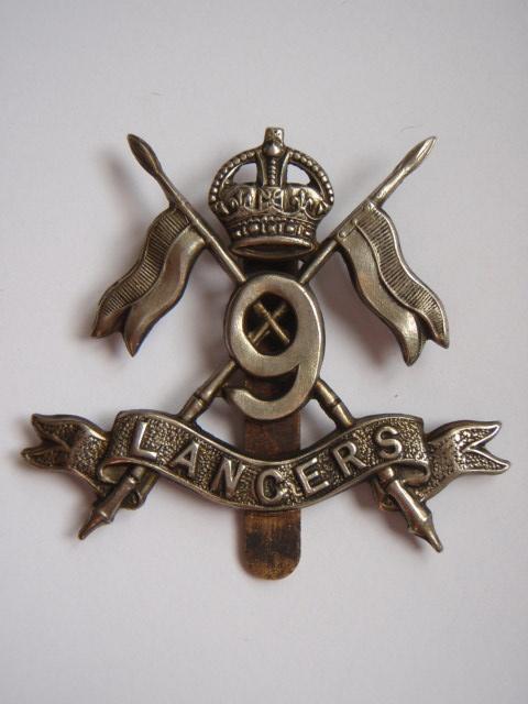 9th Lancers Cap Badge - King's Crown