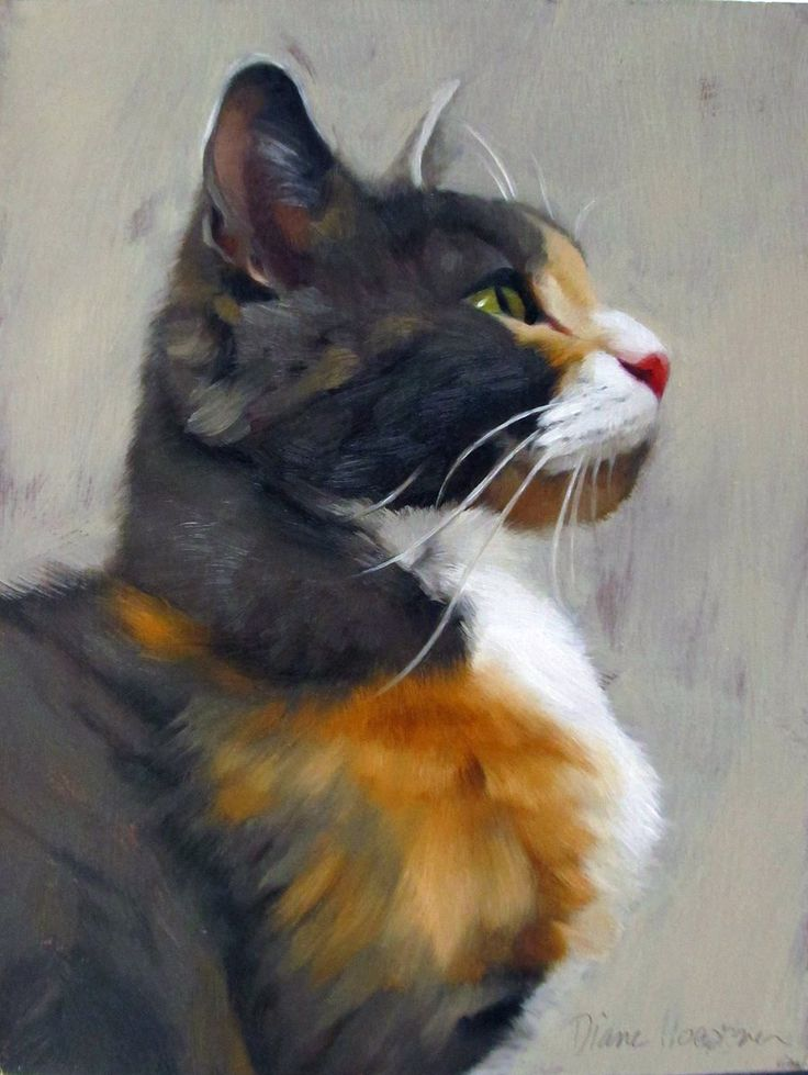 "Diane Hoeptner, ""Tom"" Oil on panel, 8"" x 6,"""