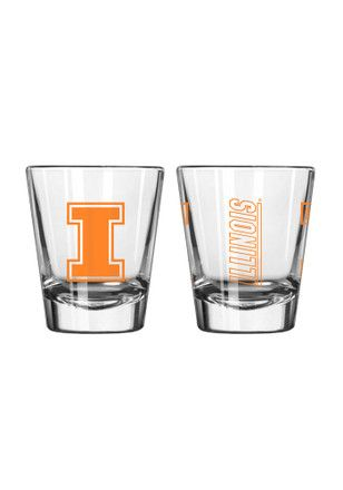 Illinois Fighting Illini 2oz Clear Shot Glass