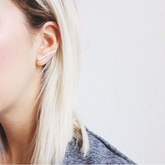 Sietske wearing the Antenna earring.