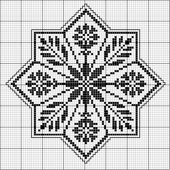 Octogonal 03 | Free chart for cross-stitch, filet crochet | gancedo.eu