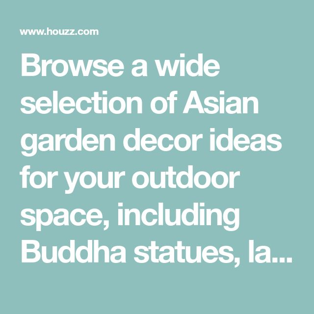 Browse a wide selection of Asian garden decor ideas for your outdoor space, including Buddha statues, lawn ornaments, garden gnomes and more.
