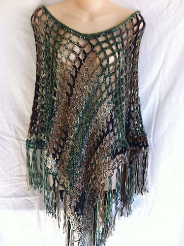 Ravelry: The 3 Hour 3 Dollar Poncho pattern by Kelli J. Bryan