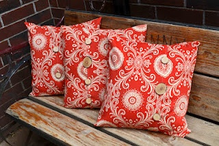 DIY- Easy Outdoor Pillows with tutorial
