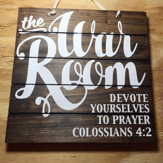 Warfare Room Signal, Prayer Signal, Stained Wooden Signal, Prayer Room Signal, Christian Wall Artwork, Christian Decor, Prayer Warrior, Bible Wall Artwork.  See even more at the image