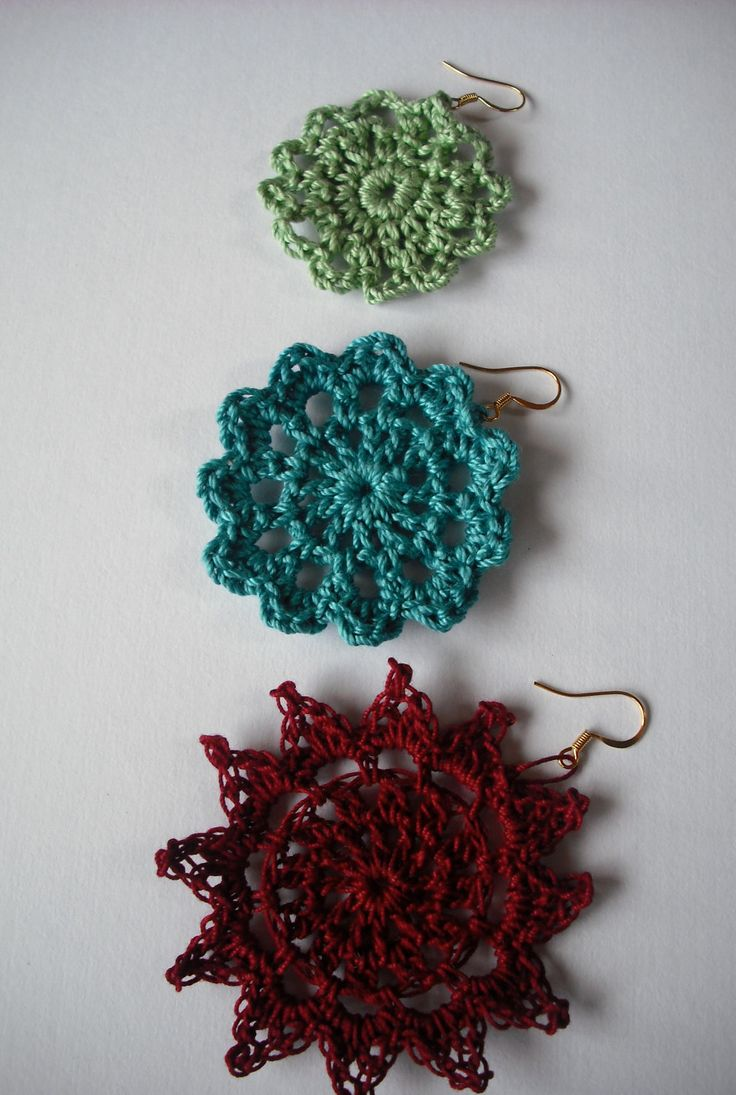 crochet earrings patterns free | Crochet Earring Pattern | Free Patterns For Crochet