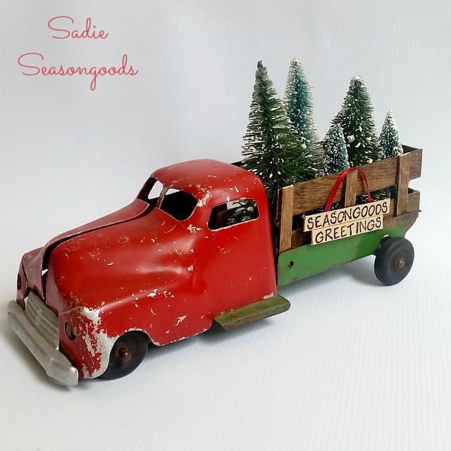 Antique Christmas Tree Delivery Truck