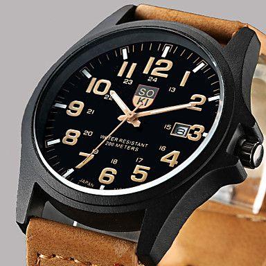 Masculino+Relógio+Elegante+Relógio+de+Moda+Relógio+de+Pulso+Quartzo+Calendário+Couro+Banda+Casual+Marrom+Verde+CáquiCafé+Marron+Verde+–+BRL+R$+57,02