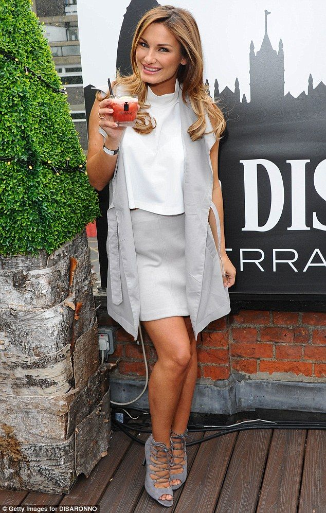 Cheers: The reality stars raised a glass at the official launch of Disaronno Terrace, held...