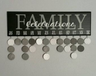 Family Birthday Board. Family CELEBRATIONS calendar. Birthday organizer