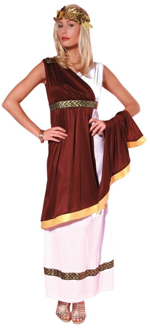 guenstige faschingskostüme damen römerin kleid lorbeerkranz