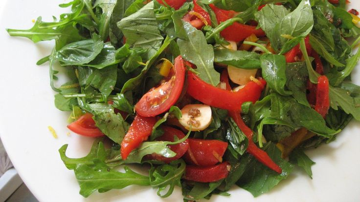 Salat med grillet paprika