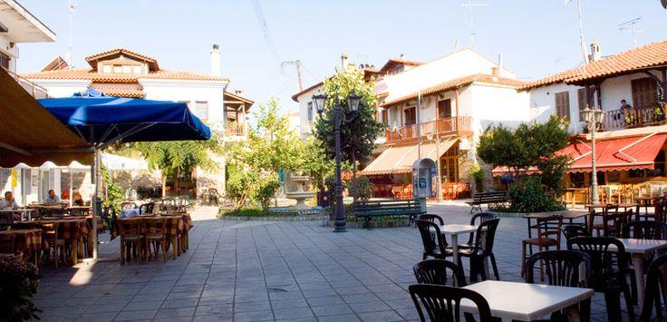 Square of Agios Nikolaos village in #Sithonia #Halkidiki http://apartments-panagi.com/