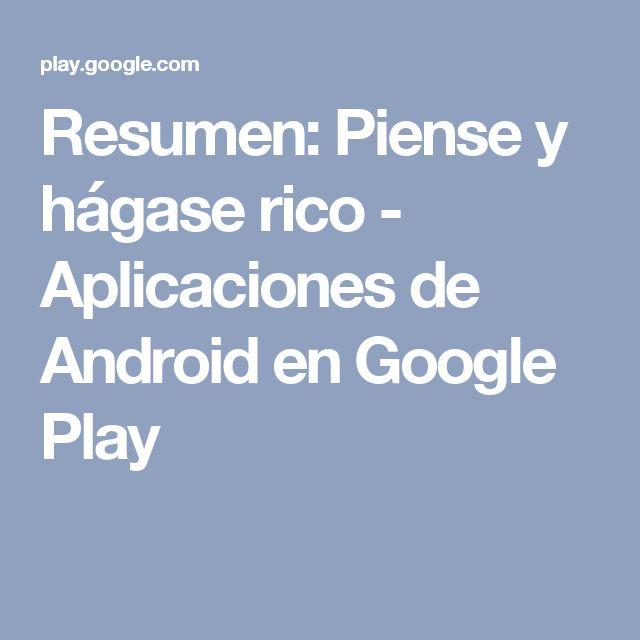 Resumen: Piense y hágase rico - Aplicaciones de Android en Google Play