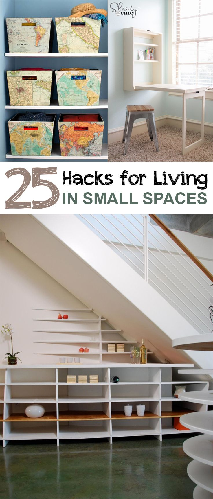 25 hacks for living in small spaces storage bins for Small space living hacks
