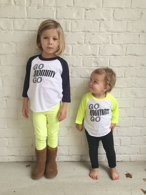 The perfect shirt for cheering on mom at Stroller Strides or during a race.  heylucyjane.com