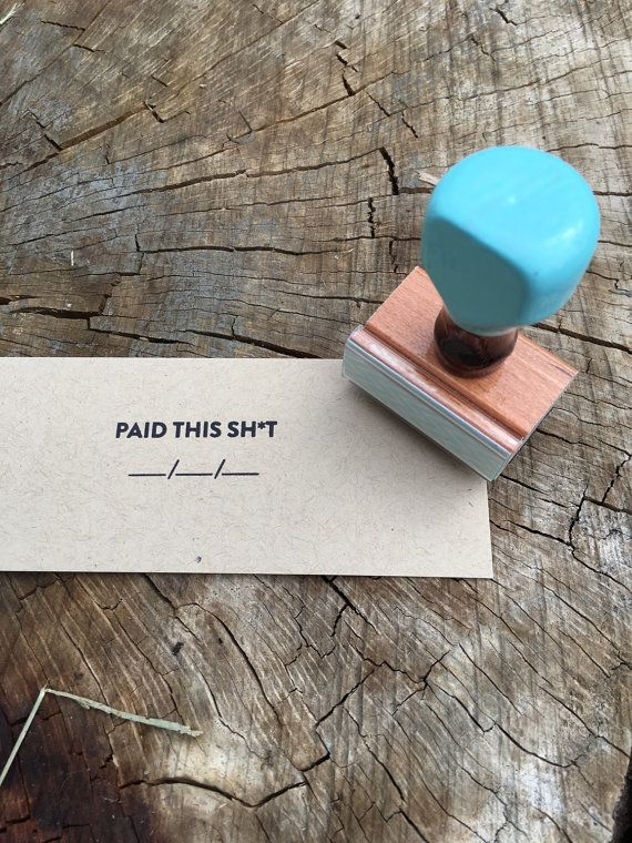 Paid Office Manager Accounting 'Paid' Stamp with by yellowbess