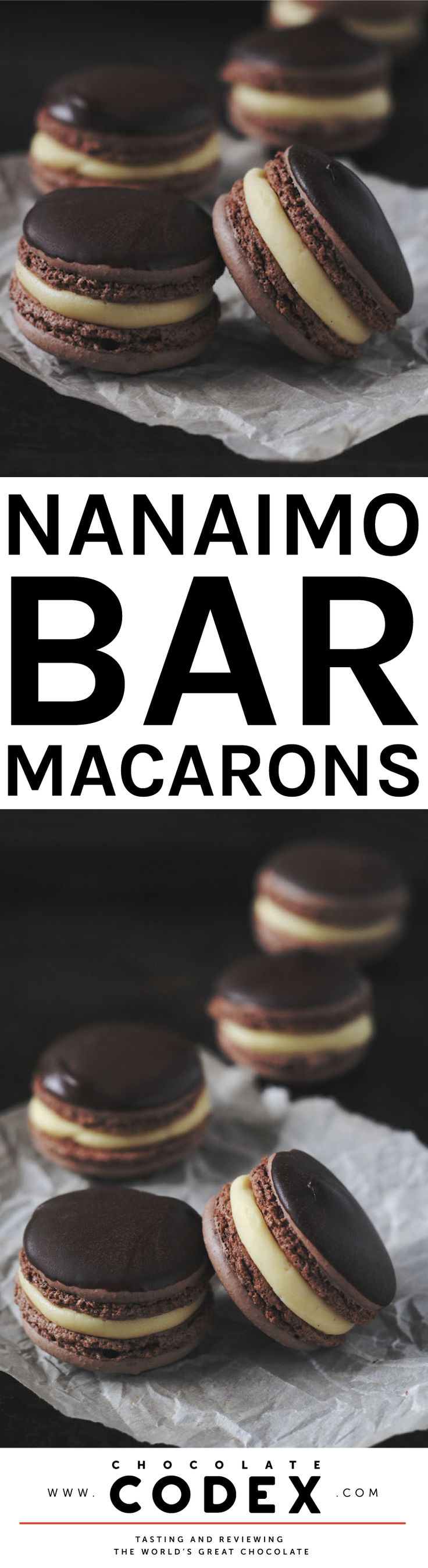 Nanaimo Bar Macarons - Yum!                                                                                                                                                                                 More