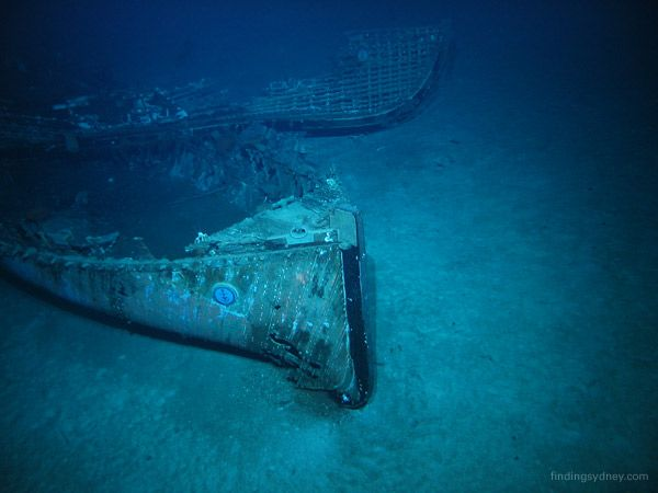 Life boats from Titanic at ocean floor