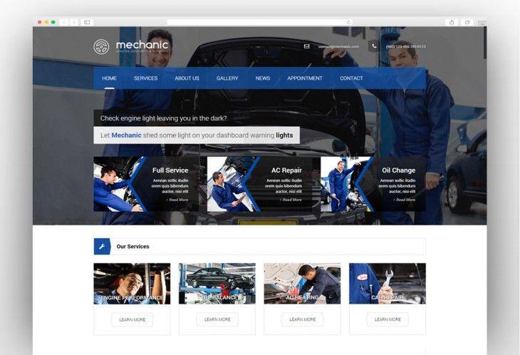 Mechanic Car Service Workshop Wordpress Theme Auto Repair Shop Car Wash Services Automotive Repair Shop