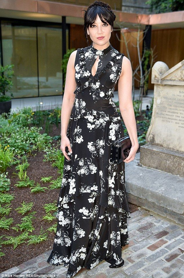 Daisy Lowe commands attention at Jimmy Choo bash in floral gown #dailymail