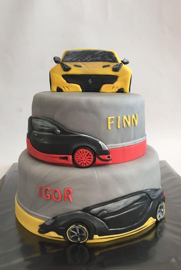 Lamborghini - Ferrari - Bugatti Veyron birthday cake