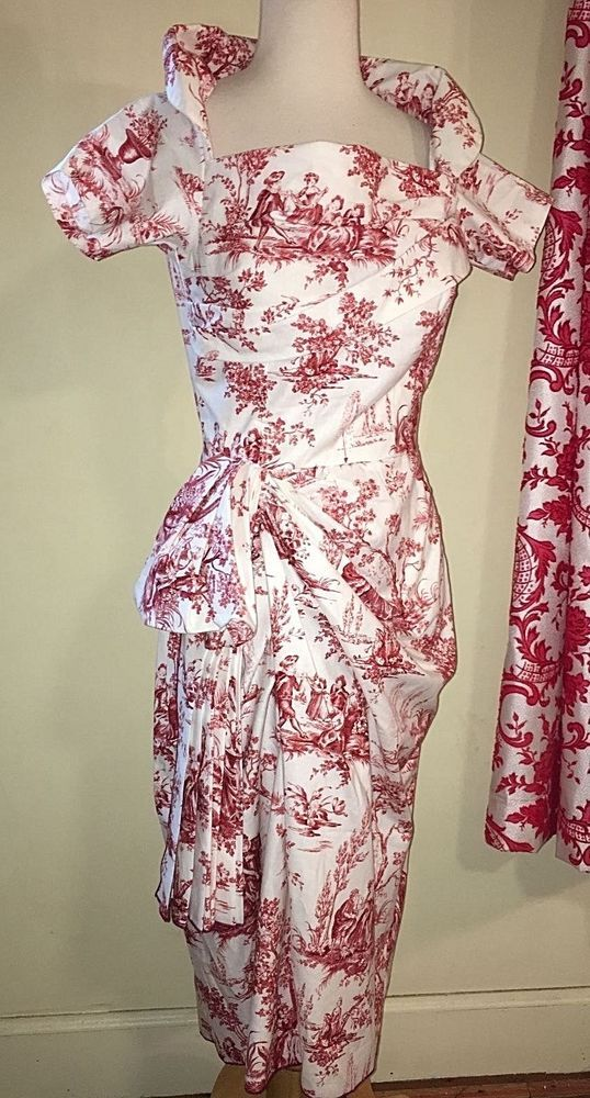 Red Toile - sample, S