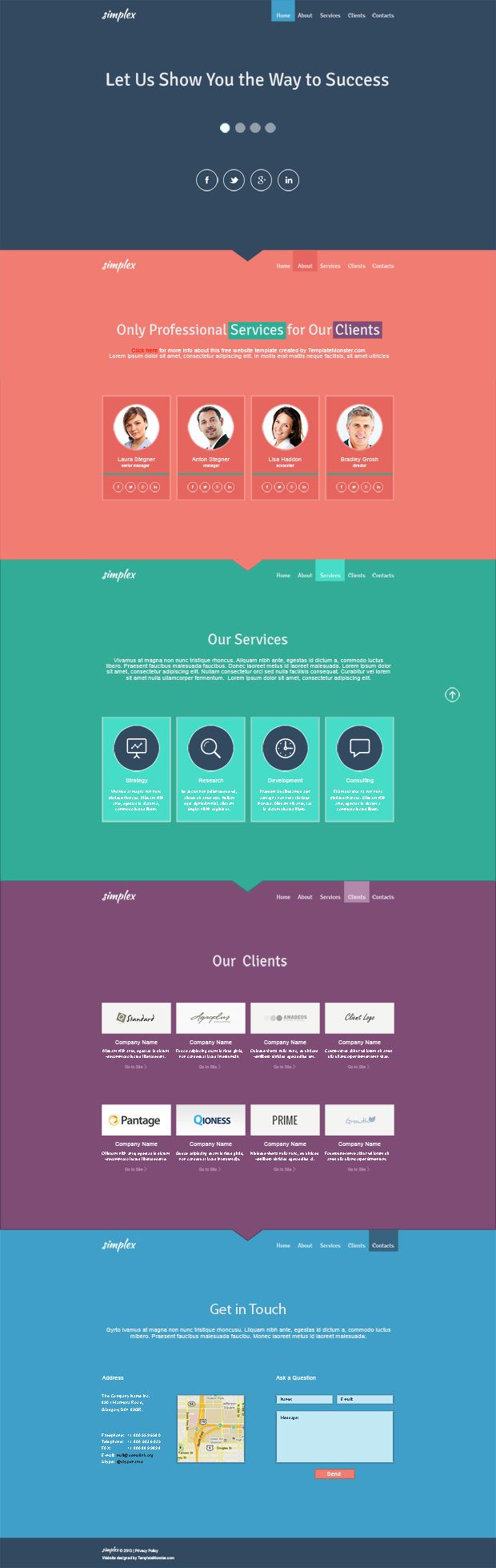 33 best images about Free One Page HTML Templates on Pinterest