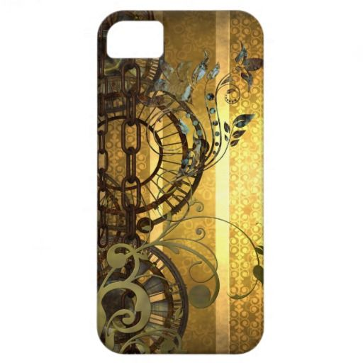Steampunk Chains and Florals iPhone 5 Covers