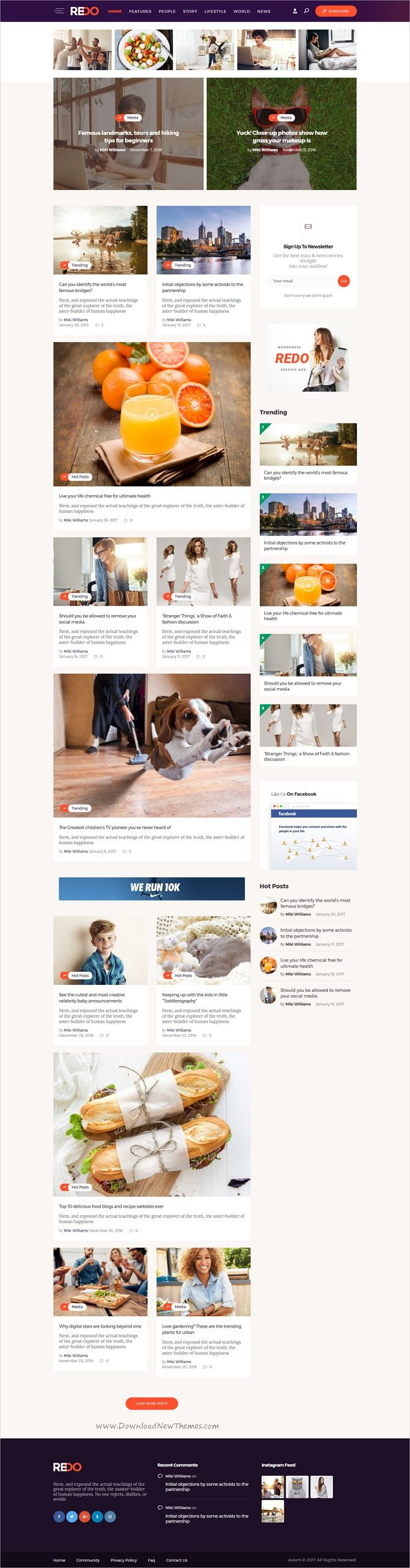 Redo is a wonderful responsive #WordPress theme for News, personal blog, #magazine and review #portals website download now➩ https://themeforest.net/item/redo-personal-blog-magazine-review-portal/19582503?ref=Datasata