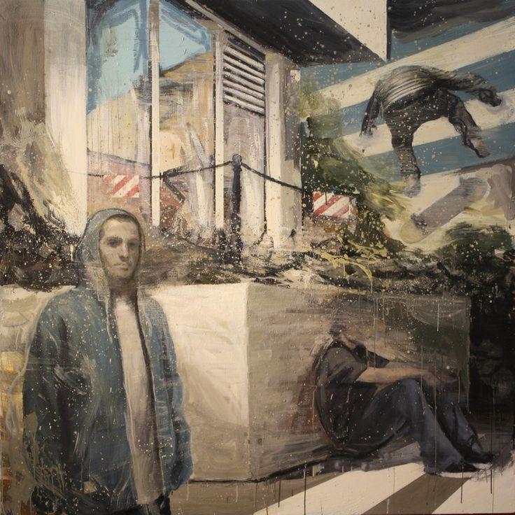 "Saatchi Online Artist: Kjetil Jul; Oil, 2012, Painting ""Streetcorner"" #oilpainting #contemporarypainting # kjetiljul"