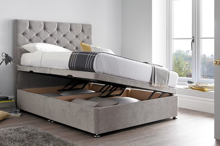The main features of the Monte Carlo Ottoman Bed are:  Divan style base with a choice of different storage options Monte Carlo Floor Standing Headboard Available with a shorter headboard by selecting the Cavendish Ottoman Bed and the Monte Carlo 61cm adjustable panel headboard Luxury Chesterfield button design headboard Upholstered in a choice of either Velvet, Crushed Velvet, Cocktail Weave (+ £20), Wool effect (+£20), Fusion (£20) Choice of colours, pictured in the Silver Grey Velvet and…