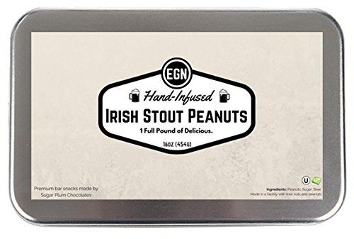 Edley Gourmet Nuts Gift Tin, 1 Pound Hand-Infused Irish Stout Peanuts, Perfect as a Thank You Gift or for Any Occasion, Small-Batch Kettle Roasted For Superior Freshness, Nuts Never Tasted This Good -- See it now, it's a great product : Fresh Groceries