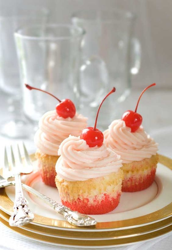 Gluten Free Shirley Temple Cupcakes by Simply Gluten Free