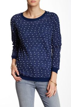 Carol Rose Textured Dotted Pullover