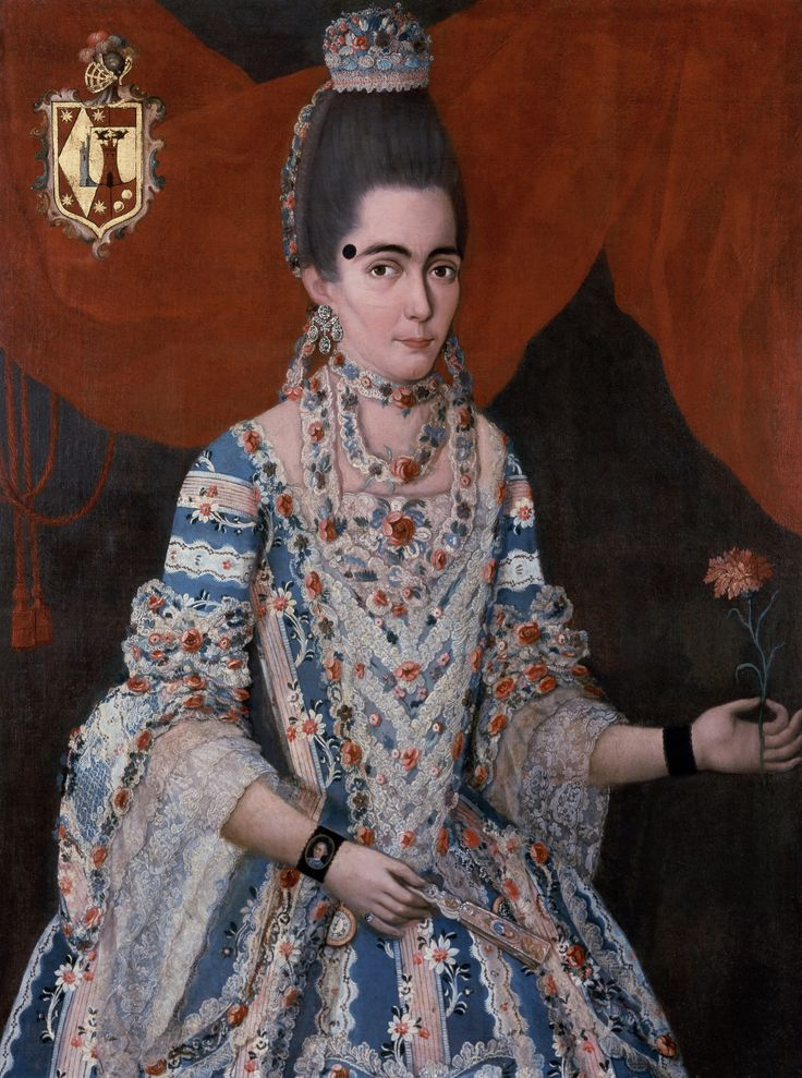 Anónimo, Retrato de doña María Moreno y Buenaventura, óleo sobre tela, 105 x 78 cm., ca. 1760-70, colección: Phoenix Art Museum, catalogación: Juan Carlos Cancino.