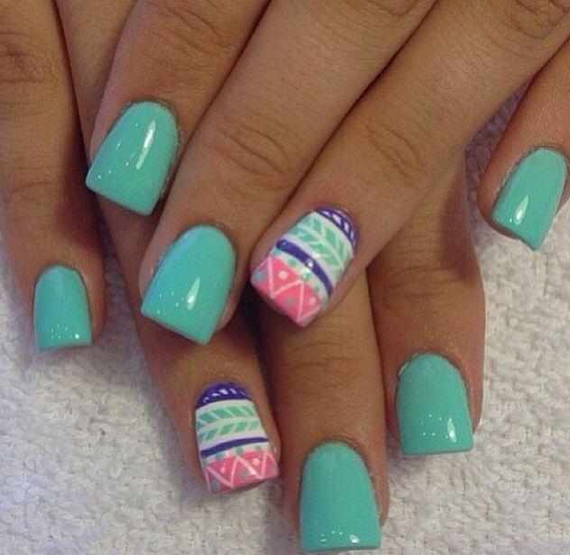 Love this nail design not a fake nail fan though :/