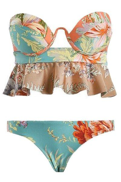 Cute !! Cute!!! Cute!!  Floral Print Bikini Set