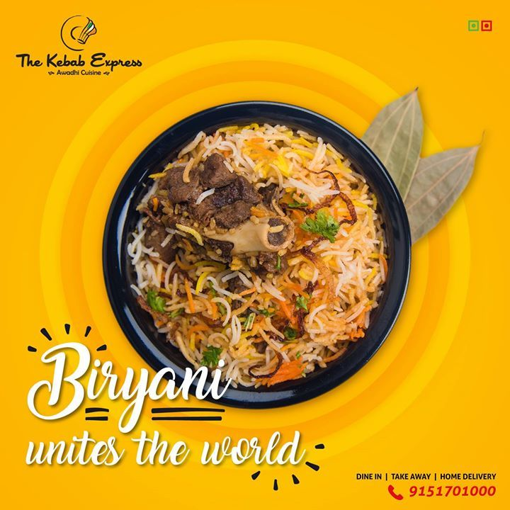 Biryani Is The Hero We Deserve And Need Taste Some Delicious Biryani At Lucknow S Authentic Awadhi Food Menu Design Food Poster Design Food Graphic Design