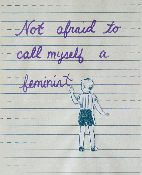 Not Afraid to Call Myself a Feminist by TheFeministBride on Etsy, Original Art