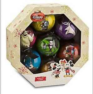 Disney 7 piece Tim Burton's The Nightmare Before Christmas Decoupage Ornament Set from the Disney Store for $19.50