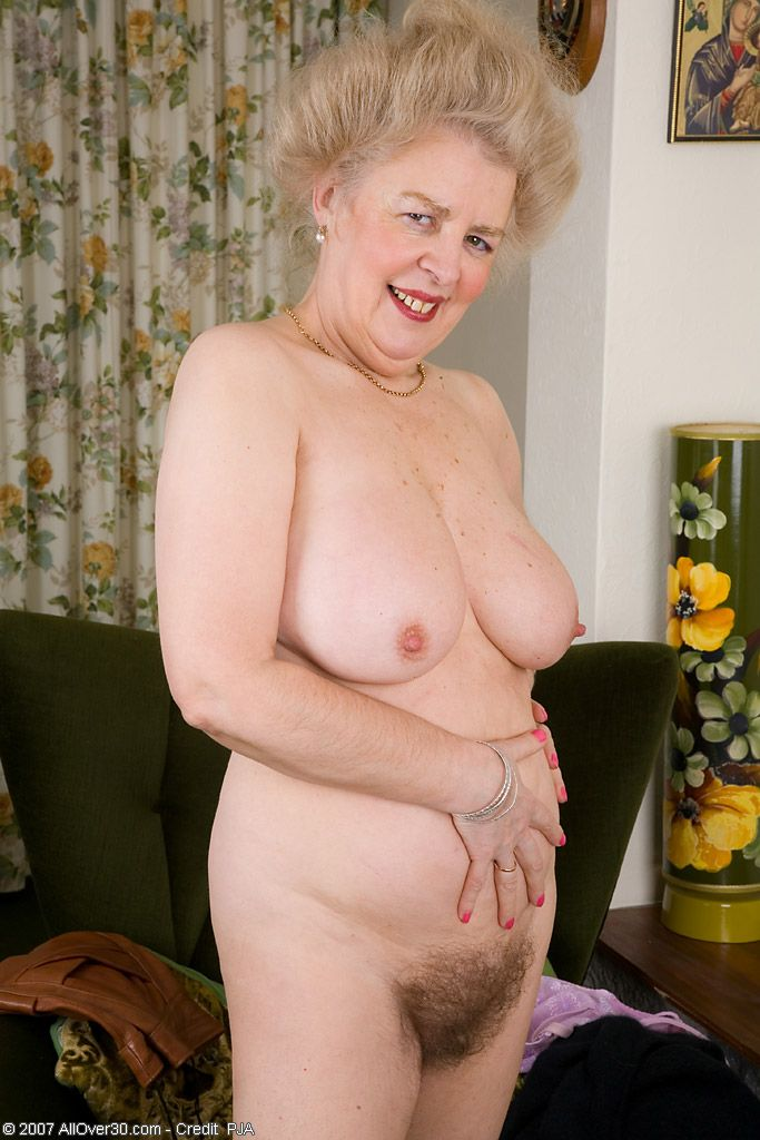 Hairy old mature women