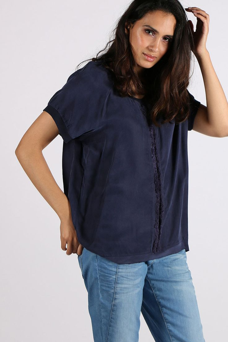 Loobies Story - Palm Top By Loobies Story In Navy