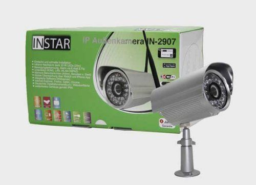 GERMAN BRAND! INSTAR IN-2907 (silver) WLAN IP Camera with 30 IR LED Nightvision, FTP and Email Alarm, Motion Detection and 5DB Antenna. For MAC / Windows / Linux / Android and IPhone! NOW ACCESSORIES LIKE HEATER ARE AVAILABLE ON AMAZON