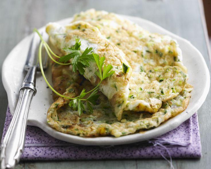 Sajtos-cukkinis omlett